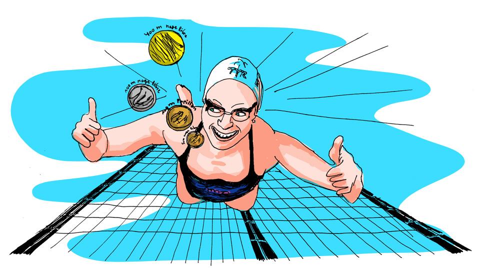 Elodie lorandi quadrunple championne efp natation